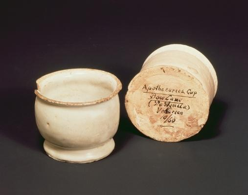 Apothecaries' cups, Bow Lane, c.1630