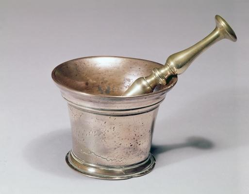 Apothecary's pestle and mortar, early 18th century