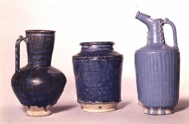 Jugs, with blue glazes, Rayy, 12th-13th century