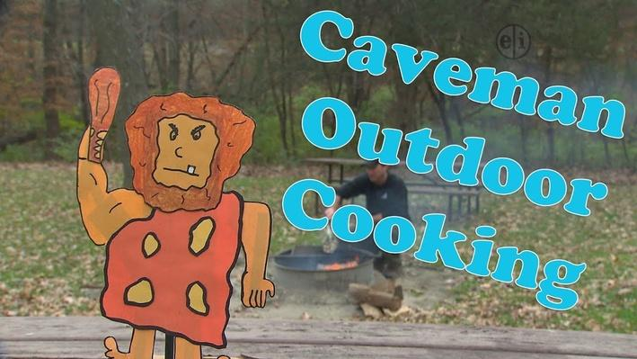 Eat Healthy Food: Caveman Outdoor Cooking | KIDS Clubhouse Adventures