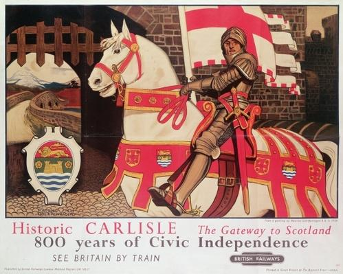 British Rail poster advertising 'Historic Carlisle, Gateway to Scotland', 1924