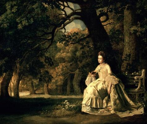 Lady reading in a Park, c.1768-70