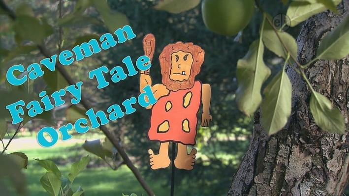 Eat Healthy Food: Caveman visits Apple Orchard   KIDS Clubhouse Adventures