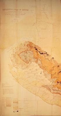Geological Map of the Kutch region of India, Geological Survey of India 1868-69