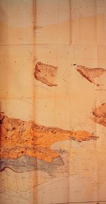 Geological Map of the Cutch Desert, 1870