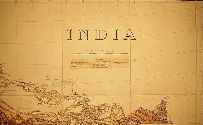 Detail of a Map of the India-Tibet border, 1898