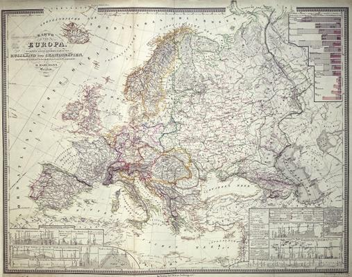 Map of Europe, 1841