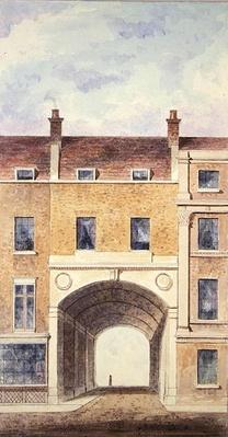 The Improved Entrance to Scotland Yard, 1824