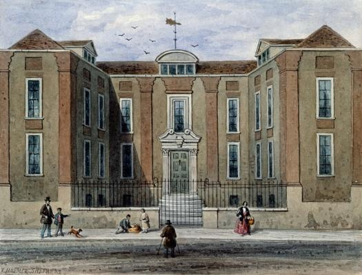 An Ancient Mansion, called Pitchett Hall, South Side of Union St., Southward, 1828