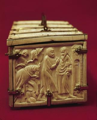 Casket with scenes from romance literature, 1330s