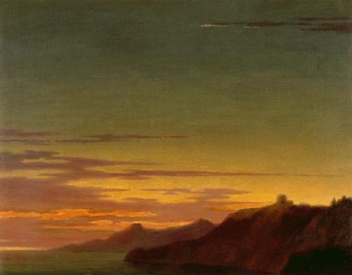 Close of the Day: Sunset on the Coast, c.1768-75