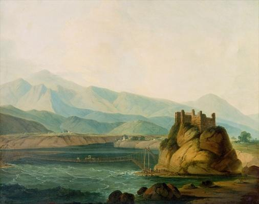 The Rope Bridge at Serinagur, c.1800