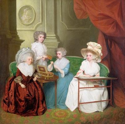 Lady Jane Mathew and her Daughters, c.1790