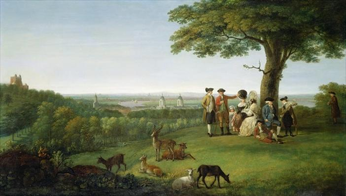 One Tree Hill, Greenwich, with London in the Distance, 1779