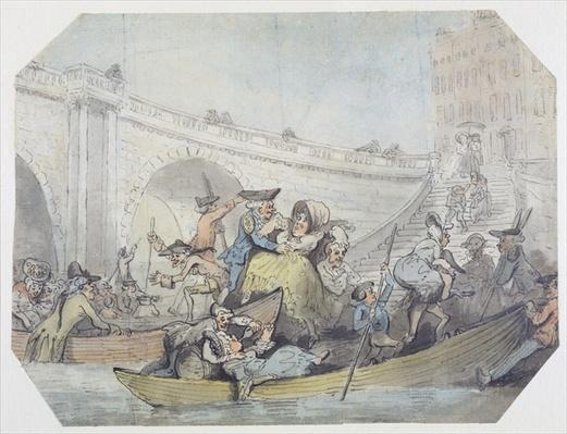 The Arrival of Ferries at London Bridge