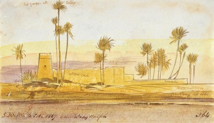 Near Wady Halfeh, 5:30pm, 6 February 1867