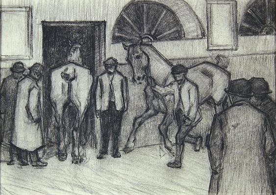 The Horse Mart, c.1917
