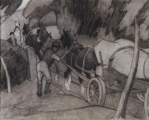 Timber Hauling, c.1917