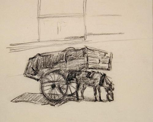 Study for Hay Carts, Cumberland Market, c.1915