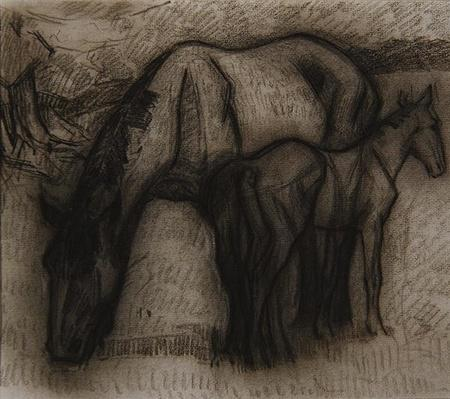 Study for Mare and Foal, Lytchetts, Clayhidon, 1917