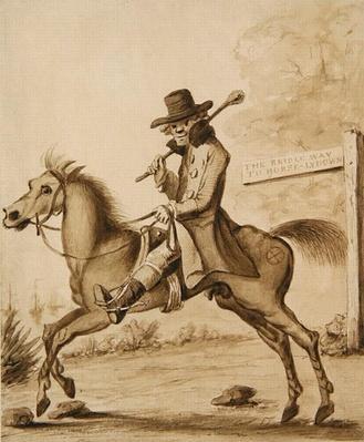 An illustration of H. Bunbury, 'An Academy for Grown Horsemen: A Bit of Blood'