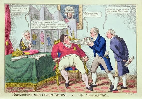 Necessitas Non Habet Leges, or the Nauseous Pill, 1823