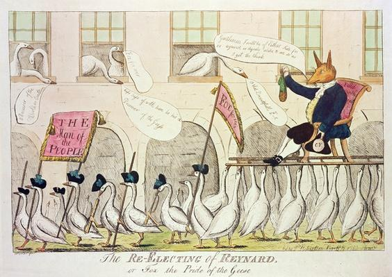 The Re-Electing of Reynard, or Fox the Pride of the Geese, 1783