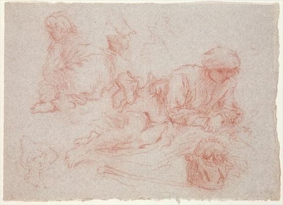 Study of a reclining man