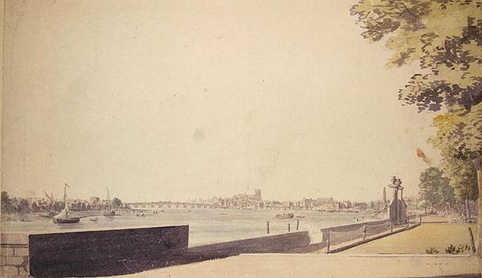 View from Somerset House Garden, looking towards Westminster Bridge, 1756