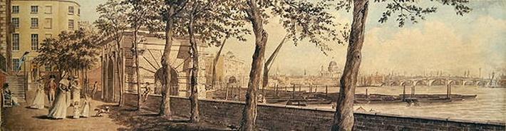 View of Blackfriars Bridge, from York Terrace, 1786