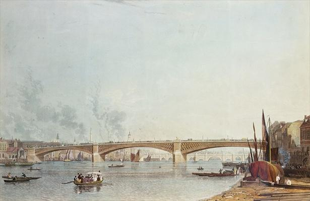 Southwark Bridge, West Front, from Bankside, looking towards London Bridge