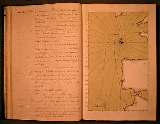 Hand drawn map of the coasts of Portugal and Spain, 1756
