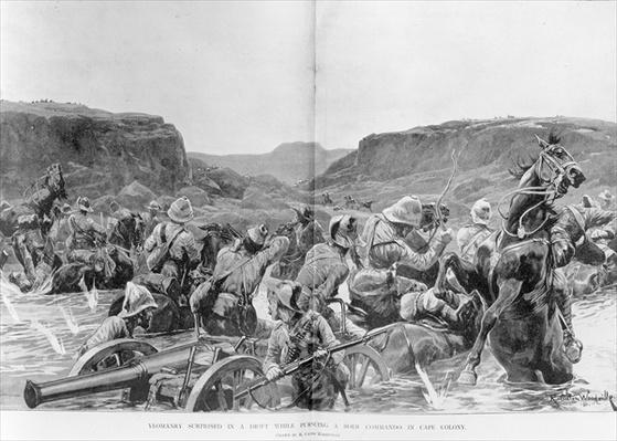 Yeomanry surprised in a drift while pursuing a Boer Commando in Cape Colony