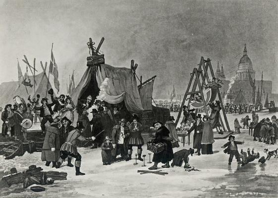 The Fair on the Thames, February 4th 1814, engraving by Reeve
