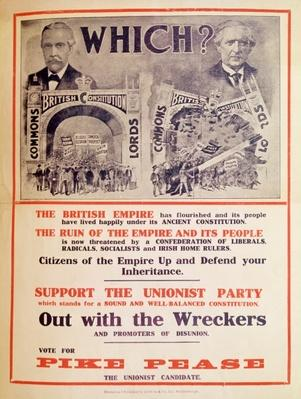 Unionist Party Poster for the British General Election of January 1910