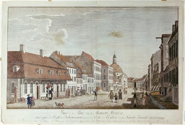View of Mauer Strasse, Berlin, 1776