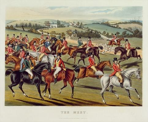 'The Meet', plate I from 'Fox Hunting', 1838