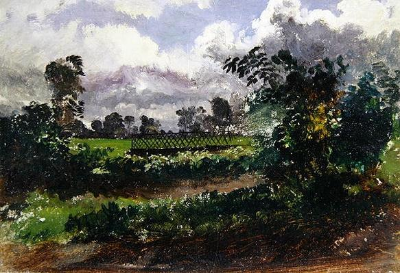 A View across the Artist's Garden from his House at Exmouth, Devonshire