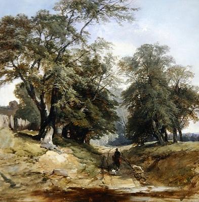 A Landscape with a Horseman, c.1850