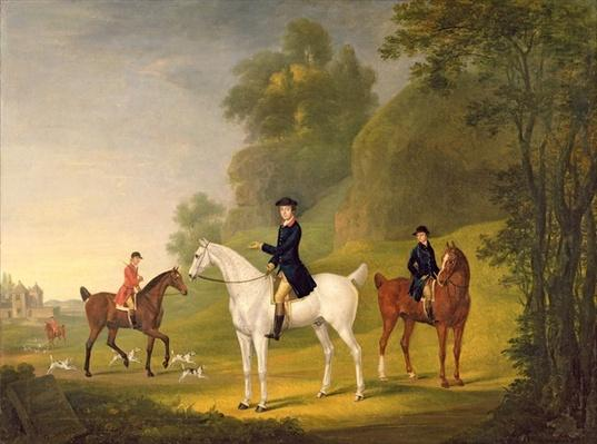 Lord Bulkeley and his Harriers, his huntsman John Wells and Whipper-In R. Jennings, 1773
