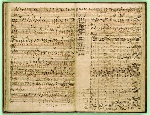 Pages from Score of the 'St Matthew Passion', 1740s