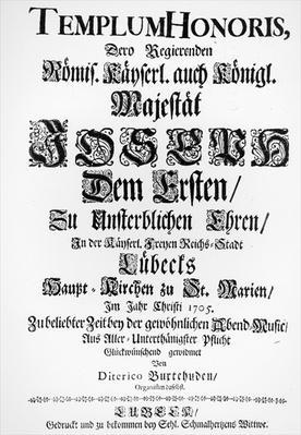 Titlepage of Abendmusik, 1705