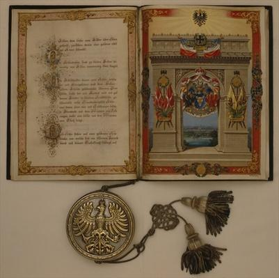 Prince's Diploma investing Otto von Bismarck, dated 21st March, 1871