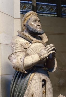 Lifesize Alabaster Statue of the Elector Frederick the Wise, at the Castle Church, Wittenberg, c.1529-21
