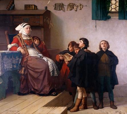 Historical theme, 1872