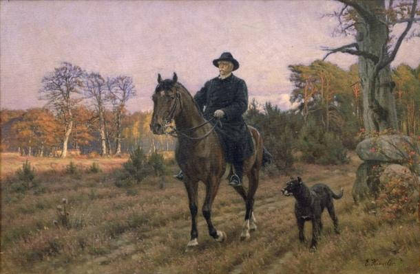 Bismarck on Horseback with Dog