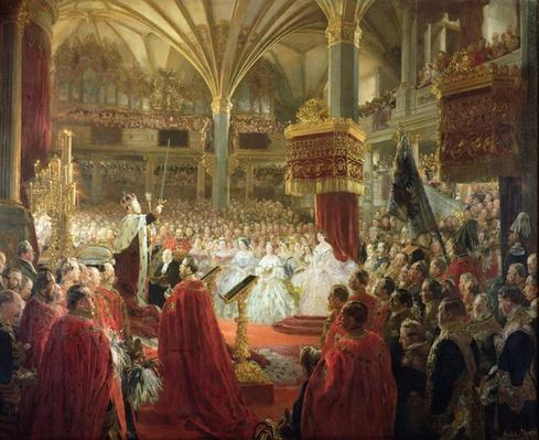 The Coronation of King William I in Koenigsberg in 1861, c.1861/65