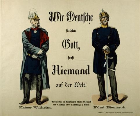 Emperor Wilhelm I and Prince Bismarck