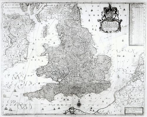 A New Map of the Kingdom of England and the Principalitie of Wales, 1669