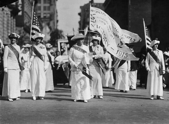 Manhattan Delegates   Women's Suffrage   U.S. History